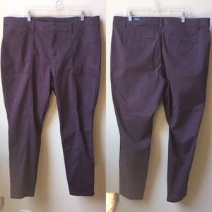 NWT Lane Bryant skinny purple pants